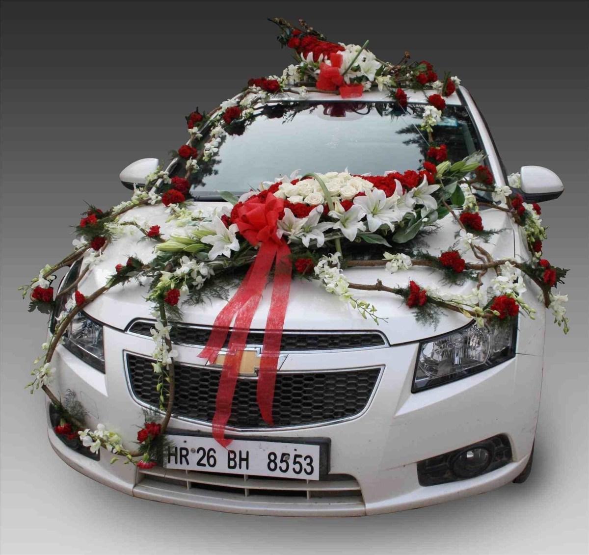 Wedding Car Decorations Ideas Wedding Decoration Wedding Car Decorations Uk Staggering Pom Poms
