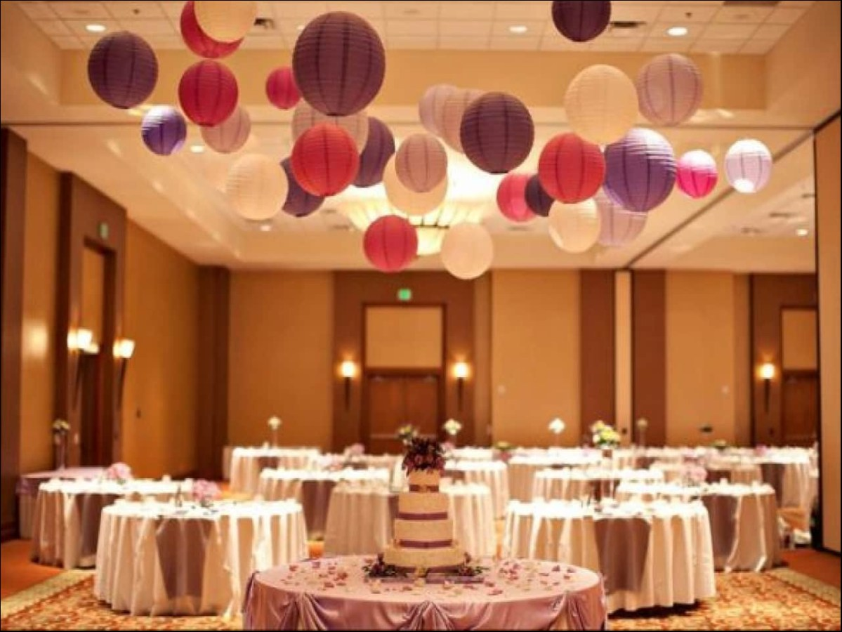 Wedding Ceiling Decorations Charming Paper Lamps Paper Lanterns Wedding Ceiling Decorations With