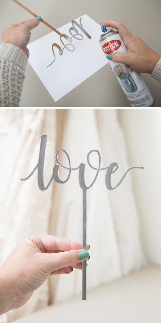 Wedding Cricut Projects You Have To See These Diy Custom Chipboard Cake Toppers
