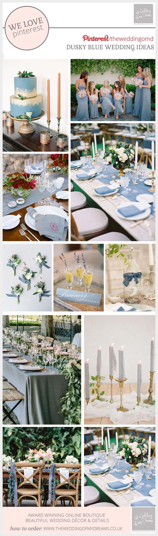 Wedding Decor Details Dusky Blue Wedding Ideas Decorations Details