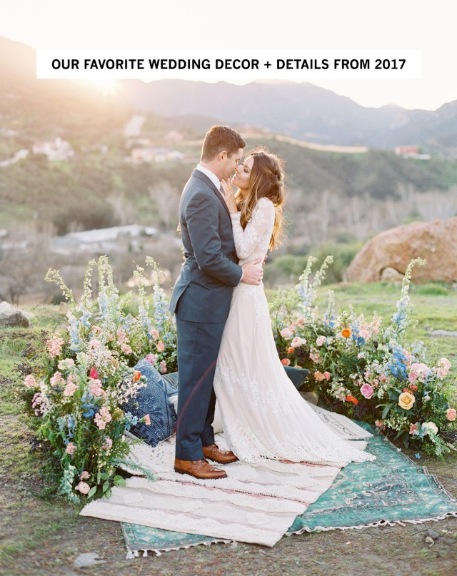 Wedding Decor Details Our Favorite Wedding Decor Details From 2017 Green Wedding Shoes