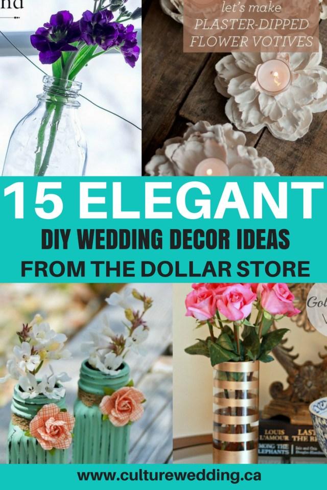 Wedding Decor Diy Ideas 15 Elegant Diy Wedding Decor Ideas From The Dollar Store