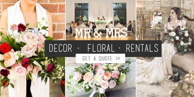 Wedding Decor Floral Toronto Florist Decorator Event Rentals Events Weddings Gta