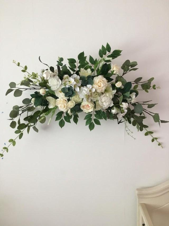 Wedding Decor Floral Wedding Arch Flower Wedding Decor Floral Swag Eucalyptus Etsy