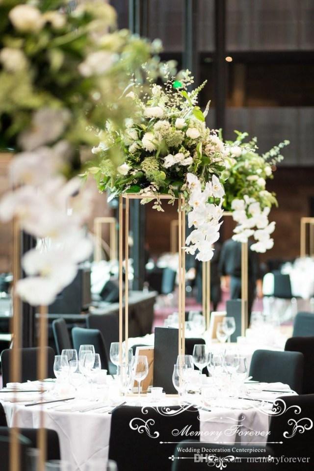 Wedding Decor Floral Wedding Decoration Metal Flower Vase Centerpiece Stand Holder Floral