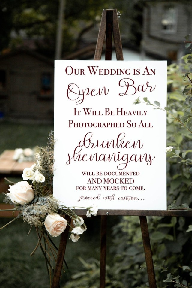 Wedding Decor List Wedding Beer List Wedding Bar Sign Open Bar Sign Rustic Etsy