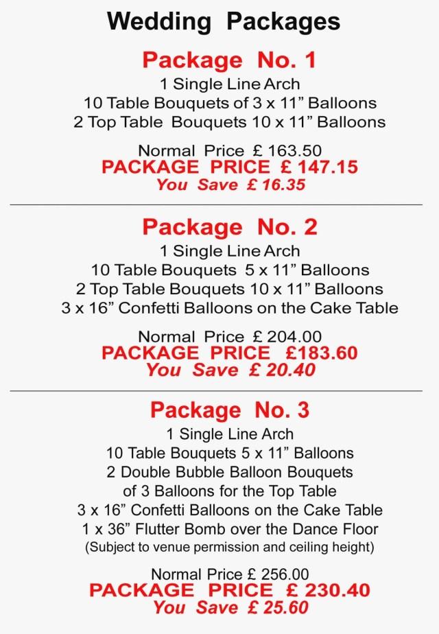 Wedding Decor List Wedding Decoration Packages Beautiful Balloon Decor Price List