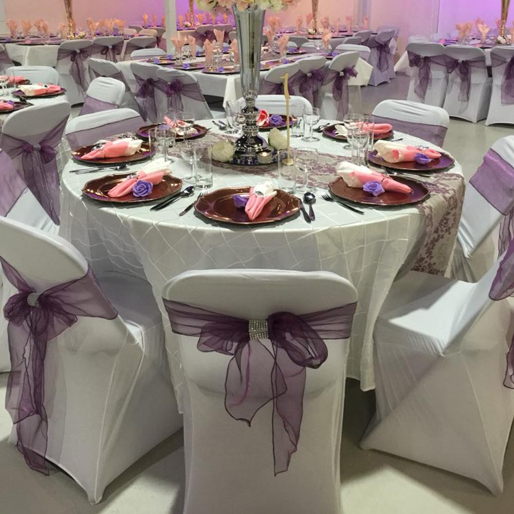Wedding Decorations Colorful 75pcs 7 X 108 Chair Cover Sashes 30 Colors Pick Organza Material
