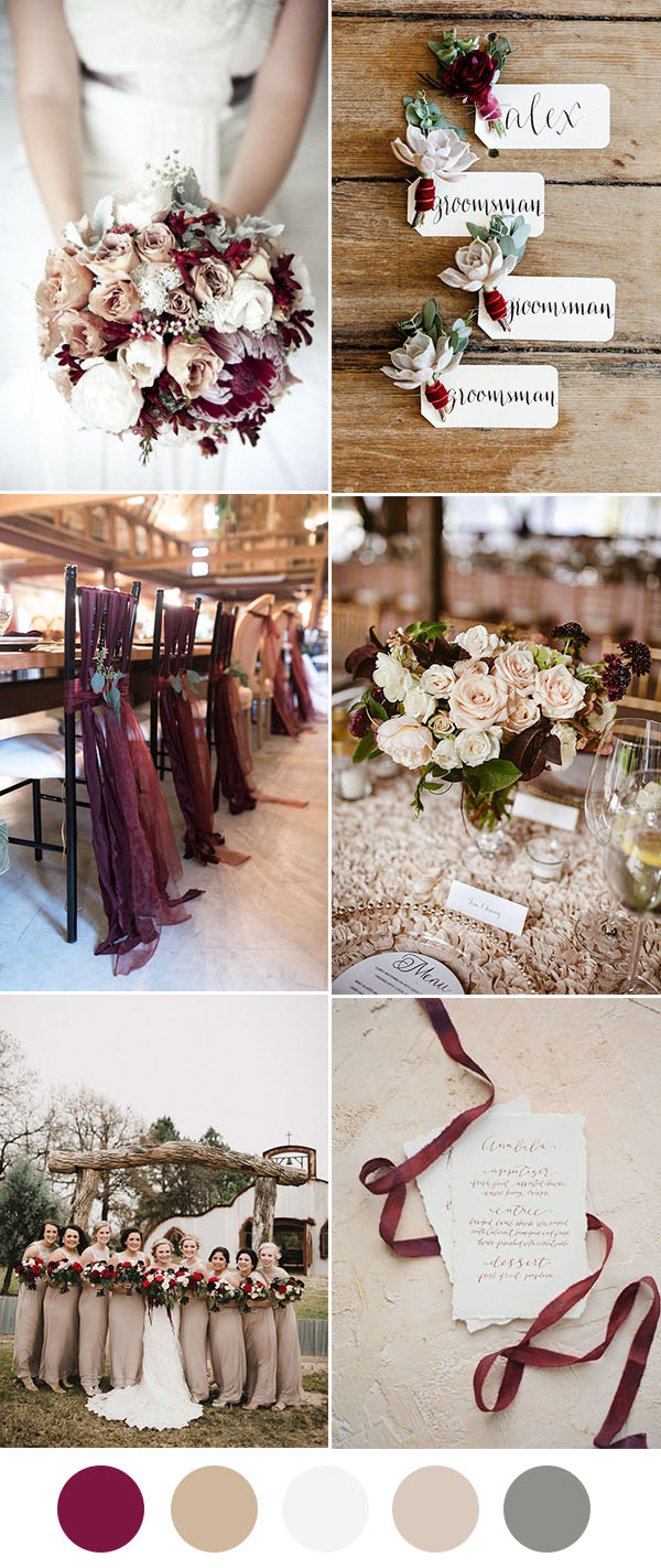 Wedding Decorations Colorful 8 Beautiful Wedding Color Ideas In Shades Of Red Wine And Burgundy