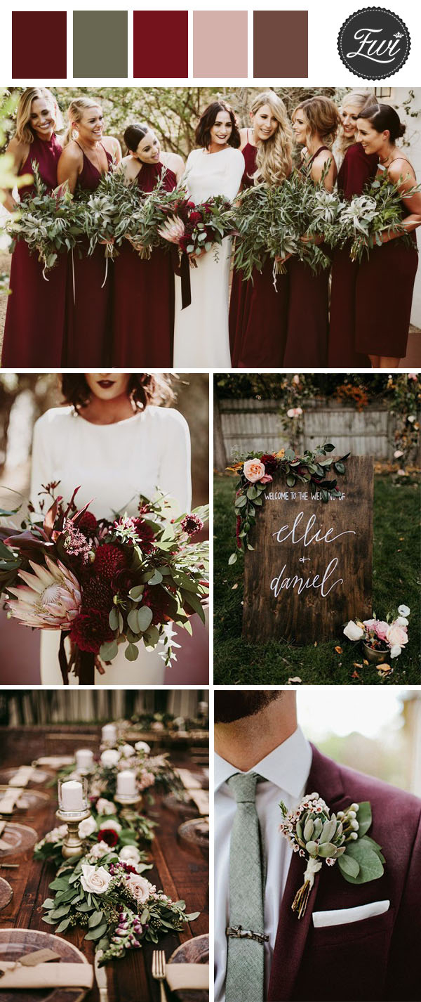 Wedding Decorations Fall 50 Refined Burgundy And Marsala Wedding Color Ideas For Fall Brides