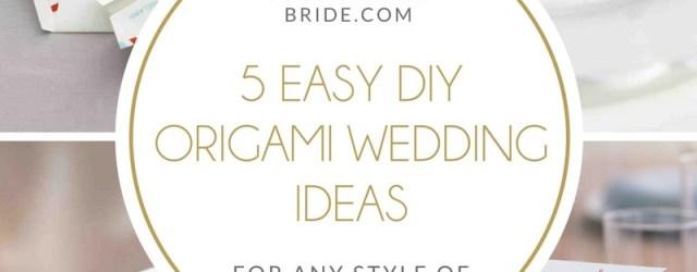 Wedding Details Ideas 5 Easy Diy Origami Wedding Ideas Southbound Bride