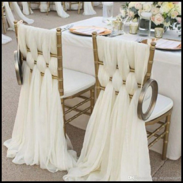 Wedding Dyi Decorations 2019 High Quality Chiffon Diy Wedding Decorations Simple Chair Cover
