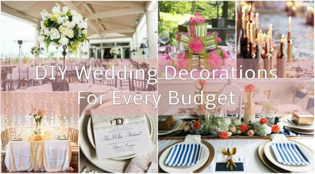 Wedding Dyi Decorations Diy Wedding Decorations For Every Budget Inspired Bride