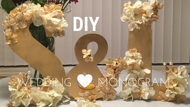 Wedding Dyi Decorations Diy Wedding Decorations Wooden Monogram Set Tutorial Youtube