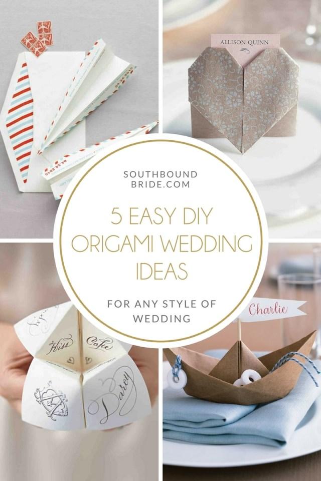 Wedding Dyi Ideas 5 Easy Diy Origami Wedding Ideas Southbound Bride