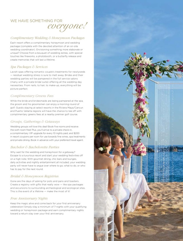 Wedding Extras Touches Amresorts Wedding Honeymoon Overview Pages 1 22 Text Version