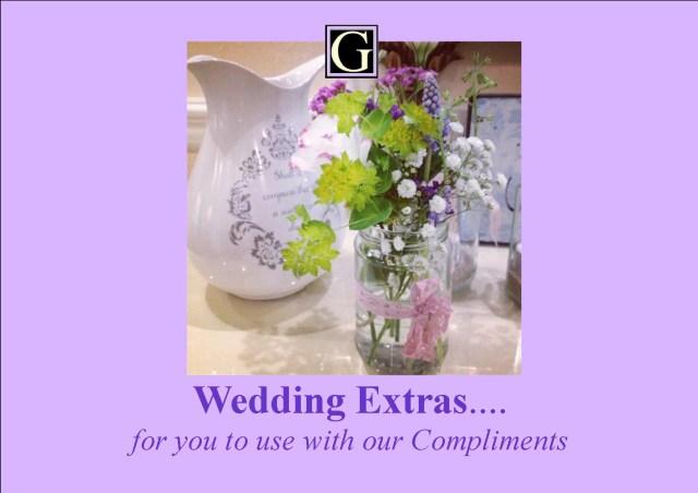 Wedding Extras Touches Bonus Extras Weddings
