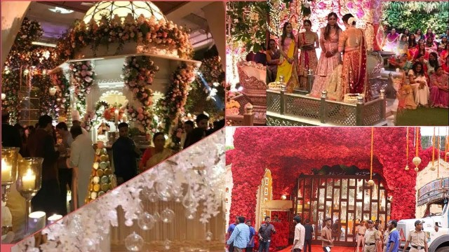 Wedding House Decorations Firt Visuals Of Ambani House Grand Decorations For Daughter Isha