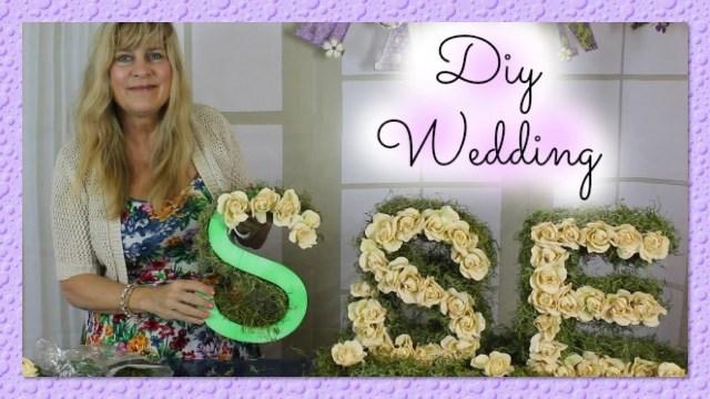 Wedding Initial Decor Diy Wedding Centerpieces Bride Groom Initials Monogram With