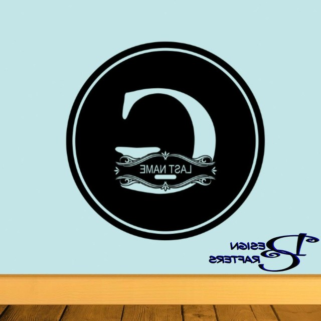 Wedding Initial Decor Monogram Initial Personalize Vinyl Decal Decor Wedding Last