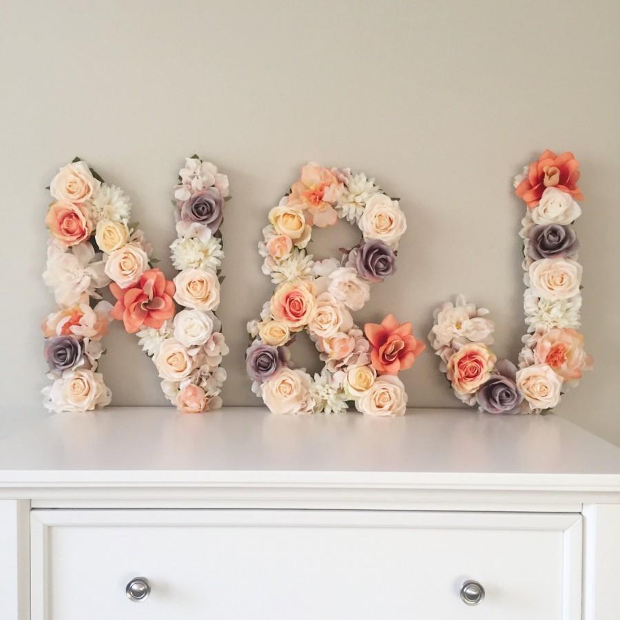 Wedding Initial Decor Wedding Letter Floral Letter Floral Monogram Wedding Monogram