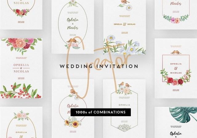 Wedding Invitation Creator 30 Elegant Wedding Invitation Psd Templates Decolore