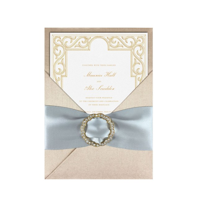 Wedding Invitation Creator Champagne Couture Silk Invitation Creation Promising The Invite You