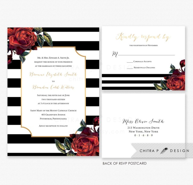 Wedding Invitation Dimensions You Are Purchasing Black White Wedding Invitations With Envelopes