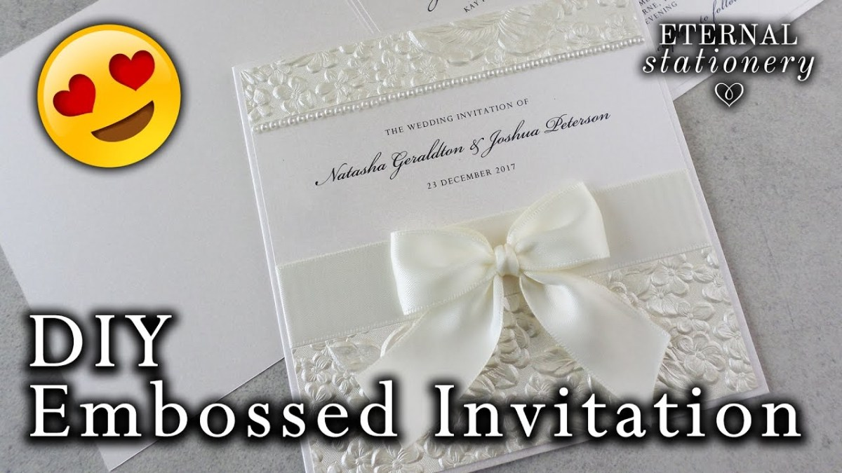 Wedding Invitation Diy How To Make A Romantic Embossed Wedding Invitation Diy Wedding