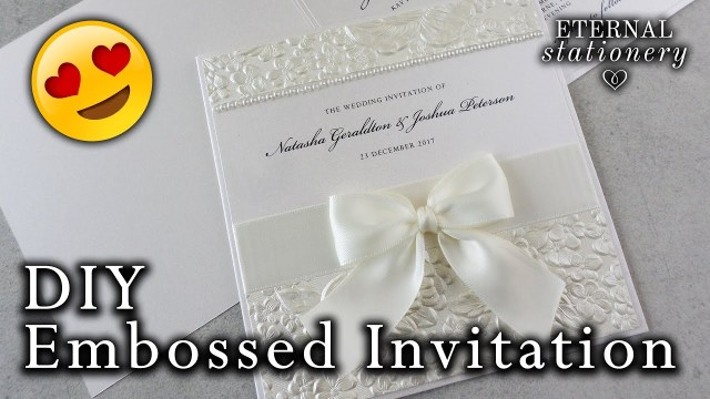 Wedding Invitation Diy How To Make A Romantic Embossed Wedding Invitation Diy Wedding