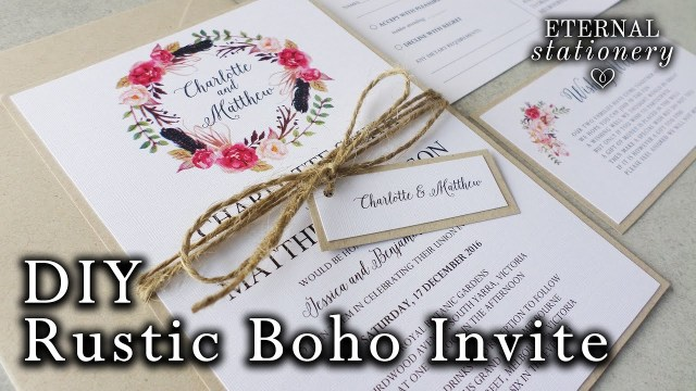 Wedding Invitation Diy How To Make A Rustic Boho Floral Wreath Wedding Invitation Diy