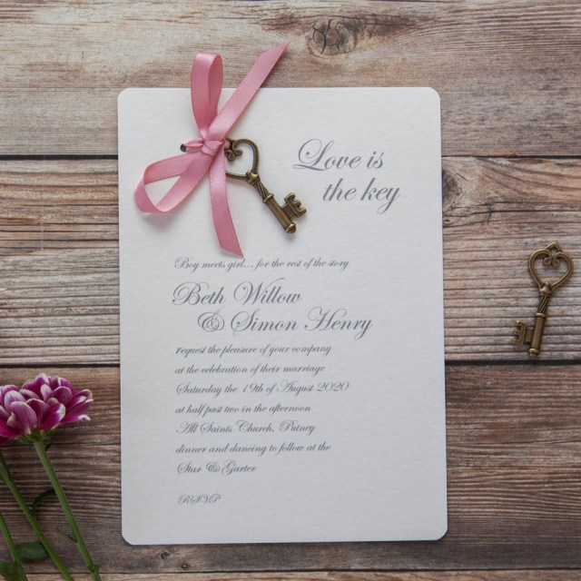 Wedding Invitation Diy Love Is The Key Diy Wedding Invitation Pack Wedding In A Teacup