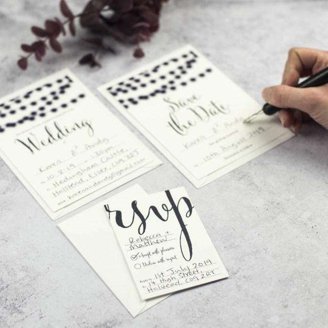 Wedding Invitation Diy Nightgarden Diy Wedding Invitation Set Russet And Gray
