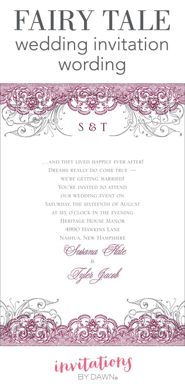 Wedding Invitation Example Fairy Tale Wedding Invitation Wording Invitations Dawn