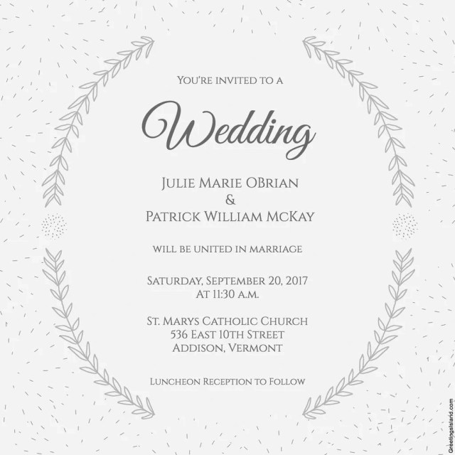 Wedding Invitation Example Wedding Invitation Messages For Friends Yengh