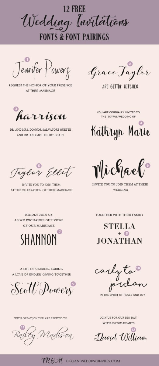 30+ Best Image of Wedding Invitation Font