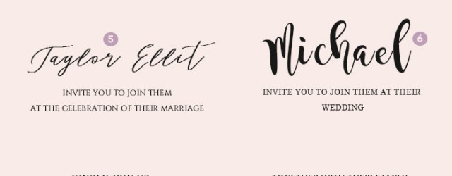 Wedding Invitation Font Wedding Invitation Font Pairing Guide With Free Killer Fonts To