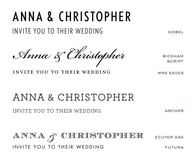 Wedding Invitation Font Wedding Invitation Fonts At Emily Jo