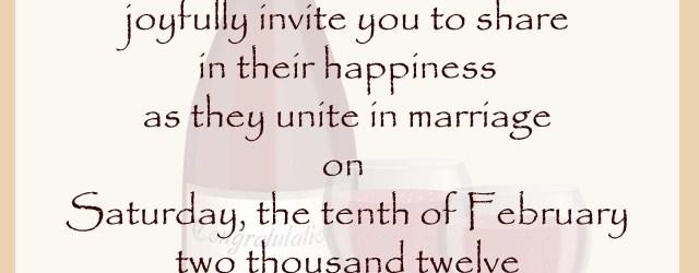 Wedding Invitation Format Wedding Invitation Wording Samples 21st Bridal World Wedding