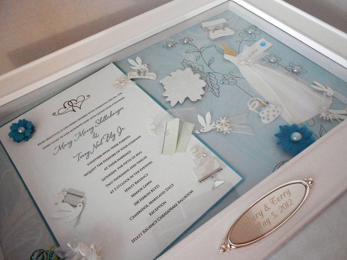 Wedding Invitation Keepsake Bridal Bliss Wedding Invitation Keepsake Box With Engraved Name