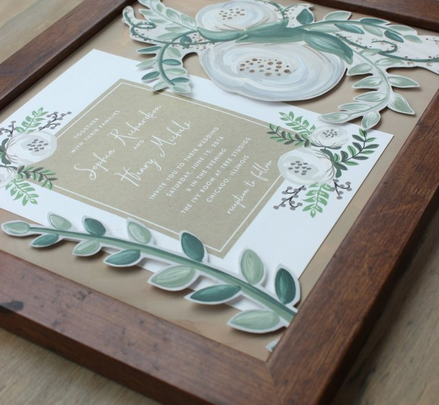 Wedding Invitation Keepsake Framed Wedding Invitation Keepsakes Unique Wedding Gift For Bride