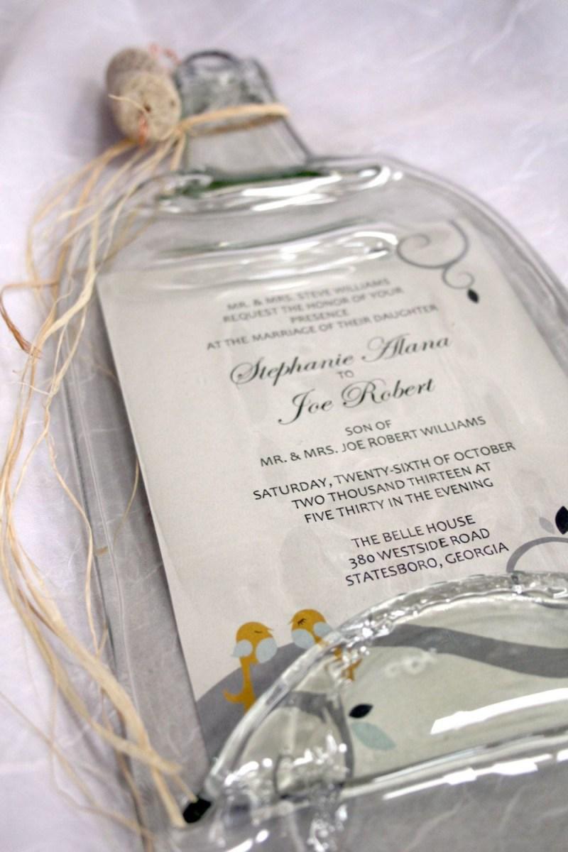 Wedding Invitation Keepsake Melted Wine Bottle With Keepsake Wedding Creativechameleon Home