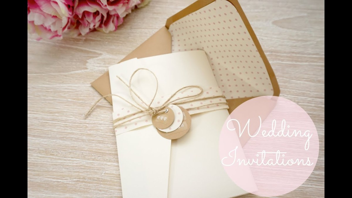 Wedding Invitation Pockets Diy Wedding Invitations Cards Pockets Youtube