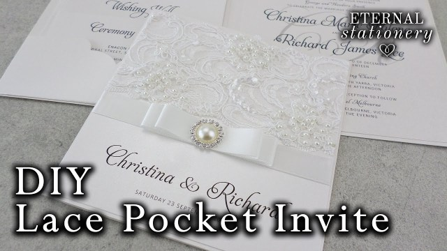 Wedding Invitation Pockets How To Make A Lace Pocket Wedding Invitation Diy Invitations Youtube