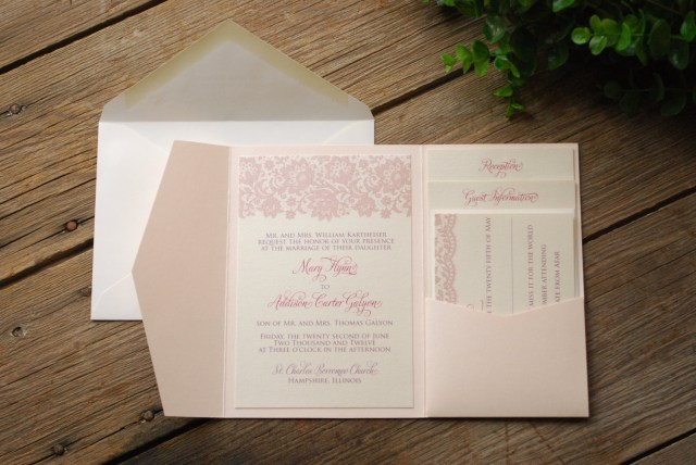 Wedding Invitation Pockets Pocket Wedding Invitations Massvn