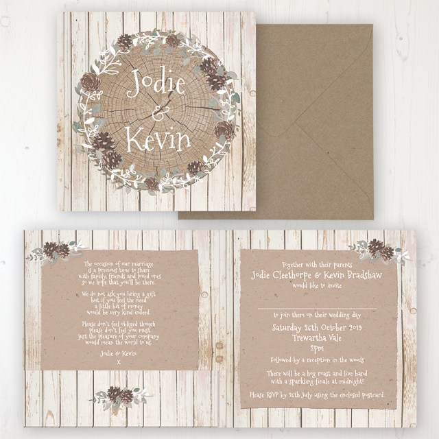 Wedding Invitation Pockets Wild Woodland Wedding Invitations Sarah Wants Stationery