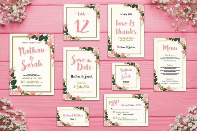 Wedding Invitation Suite 90 Gorgeous Wedding Invitation Templates Design Shack
