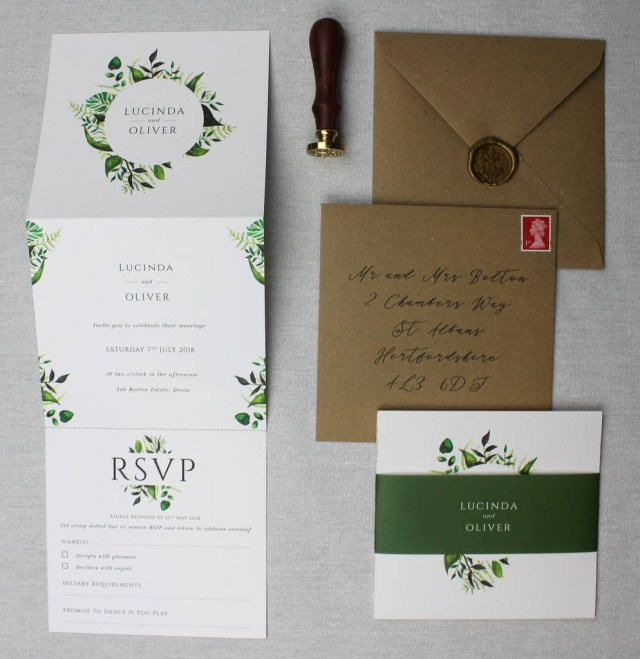 Wedding Invitation Suite Botanical Wedding Invitation Suite Beija Flor Studio