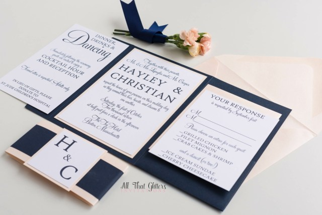 Wedding Invitation Suite Hayley Modern Classic Wedding Invitation Suite All That Glitters