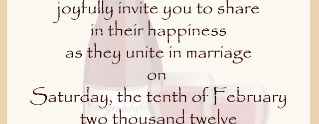 Wedding Invitation Text Wedding Invitation Wording Samples 21st Bridal World Wedding